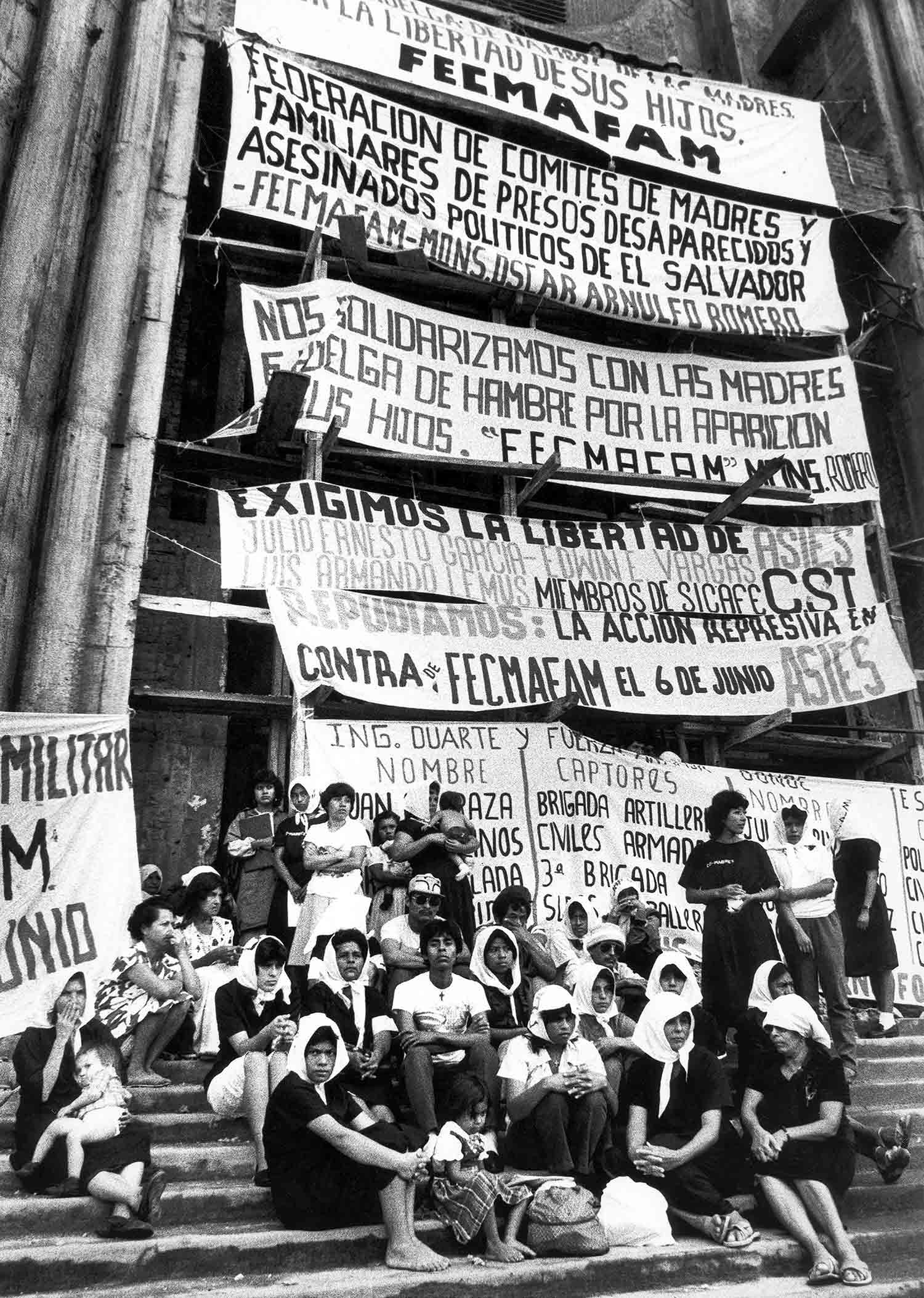 5-Protesta Comite de Madres, San Salvador 1987.