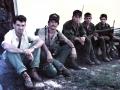 Descanso despues de acompañar a soldadosdel ejercito en un operativo Agosto de 1987
