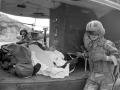 Soldados del ejercito muertos en un enfrentamiento con guerrileros. 1988.